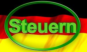 deutschlandfahne mit steuern text