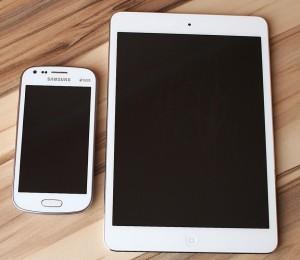 ipad und Samsung handy