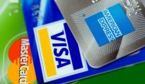 mastercard visa und american express kreditkarten