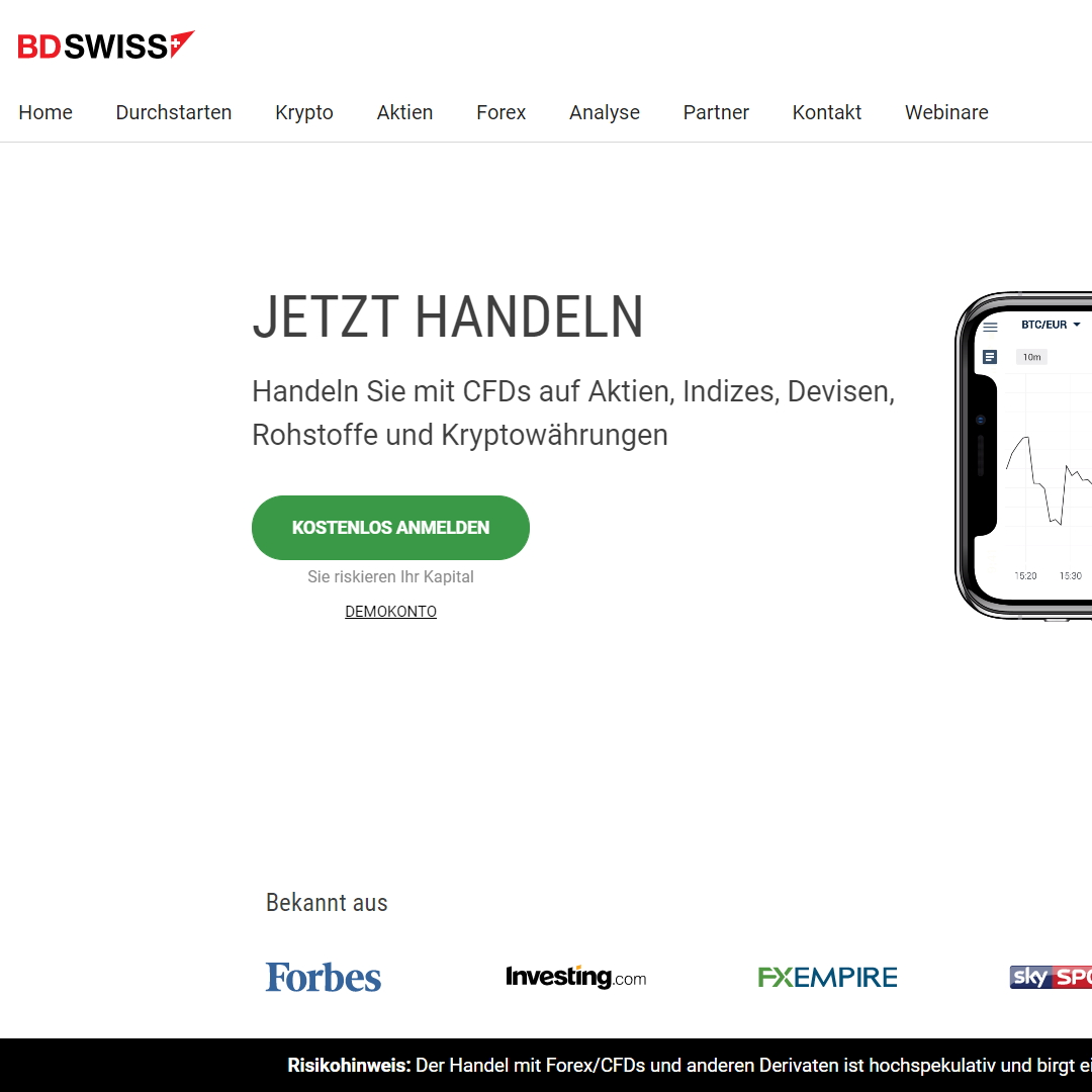 bdswiss homepage