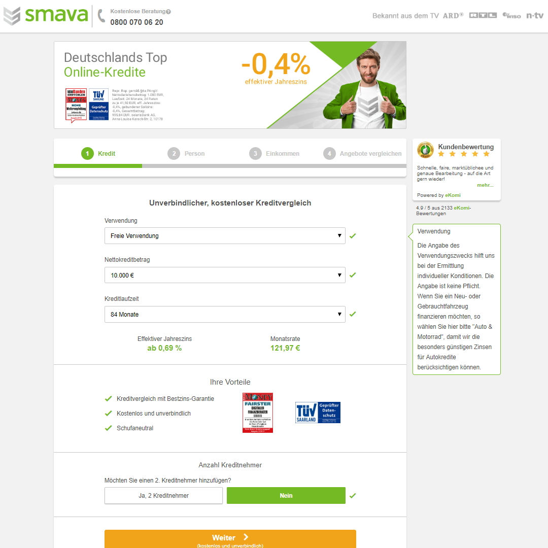 smava homepage
