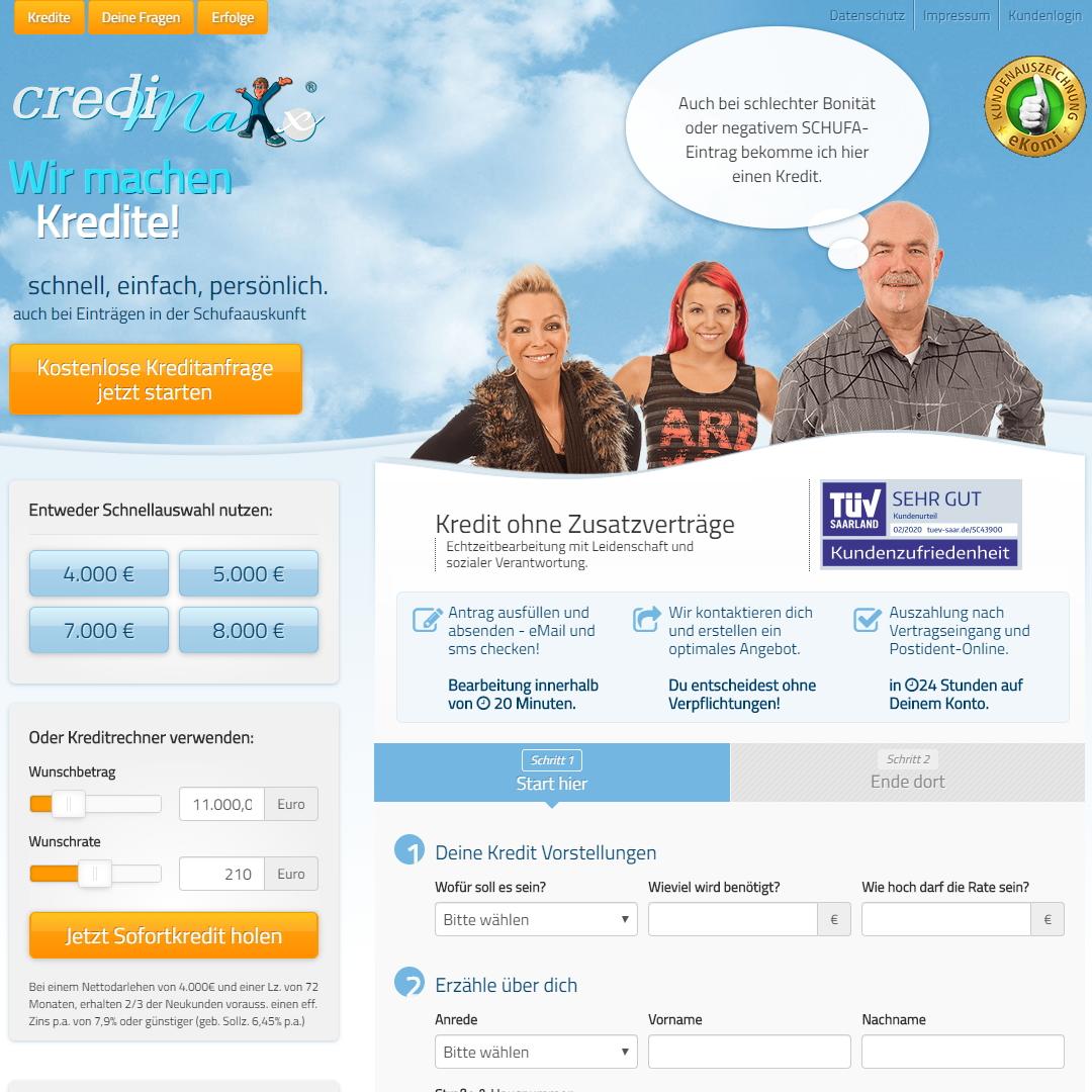 credimaxx homepage